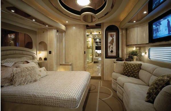 Bus Caravane Salle Salon Cuisine Bain Chambre Garage