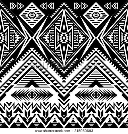 Tribal Navajo Seamless Pattern Aztec Abstract Geometric Print Ethnic Hipster Backdrop It Can