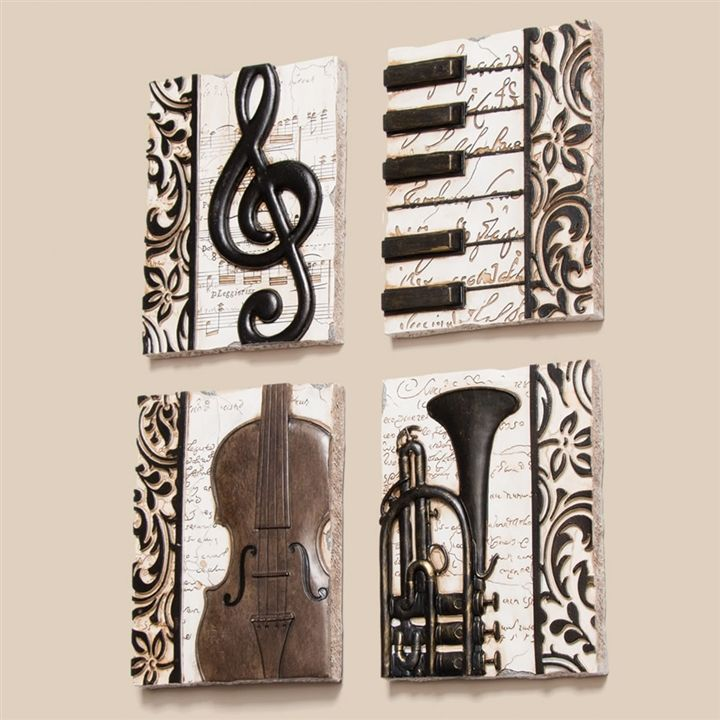 Quartet Of Music Plaques At The Music Stand Sheet Music Art Music Themed Bedroom Music Room Decor