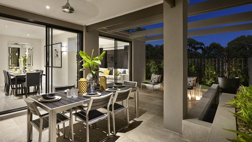 Casa de un piso moderna con hermosa fachada y dise o de for Diseno terrazas modernas