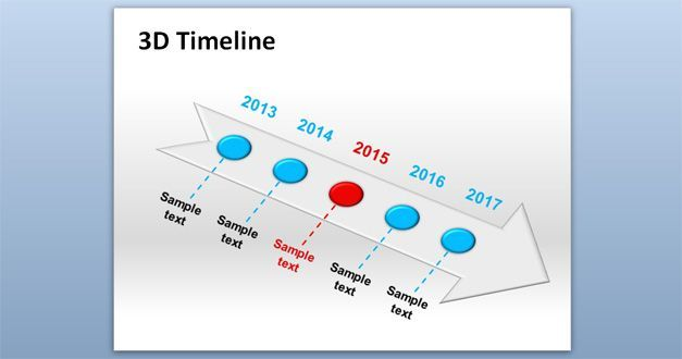 Free D Timeline PowerPoint Template Free PowerPoint Templates - Free powerpoint timeline templates