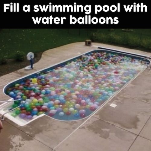 Fun Summer Idea Fill A Swimming Pool With Water Balloons I 39 D Jump In Diy Pinterest