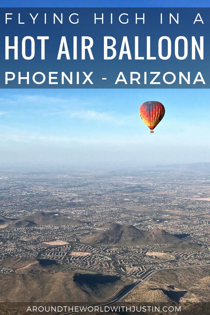 Flying High in a Hot Air Balloon over Phoenix, Arizona