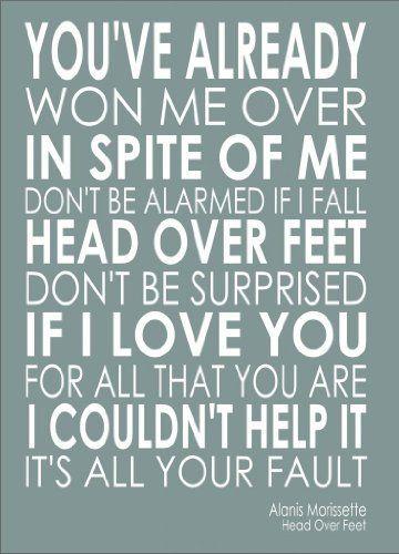 Alanis Morissette Head Over Feet Lyrics Letras De Canciones