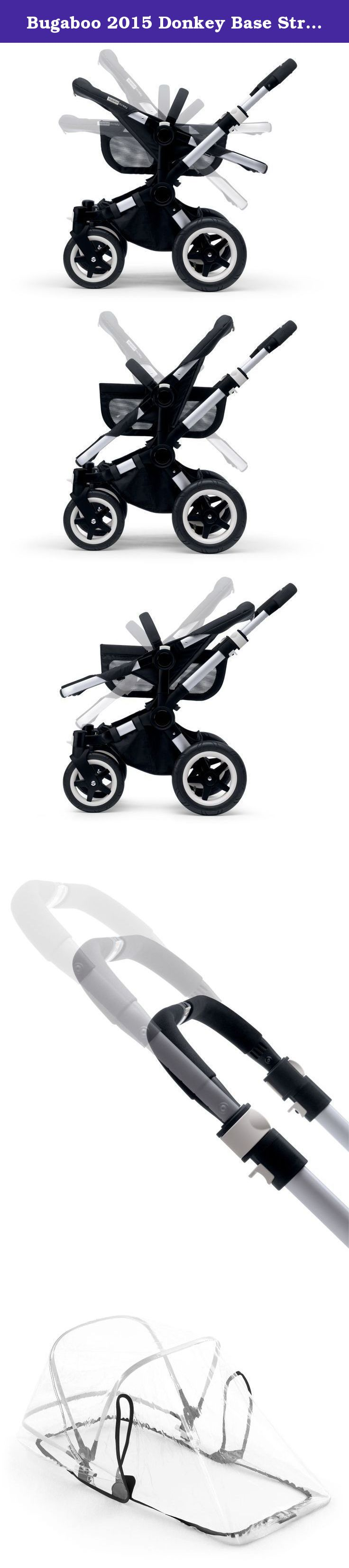 Bugaboo 2015 Donkey Base Stroller, Alu/Blk. Continuously