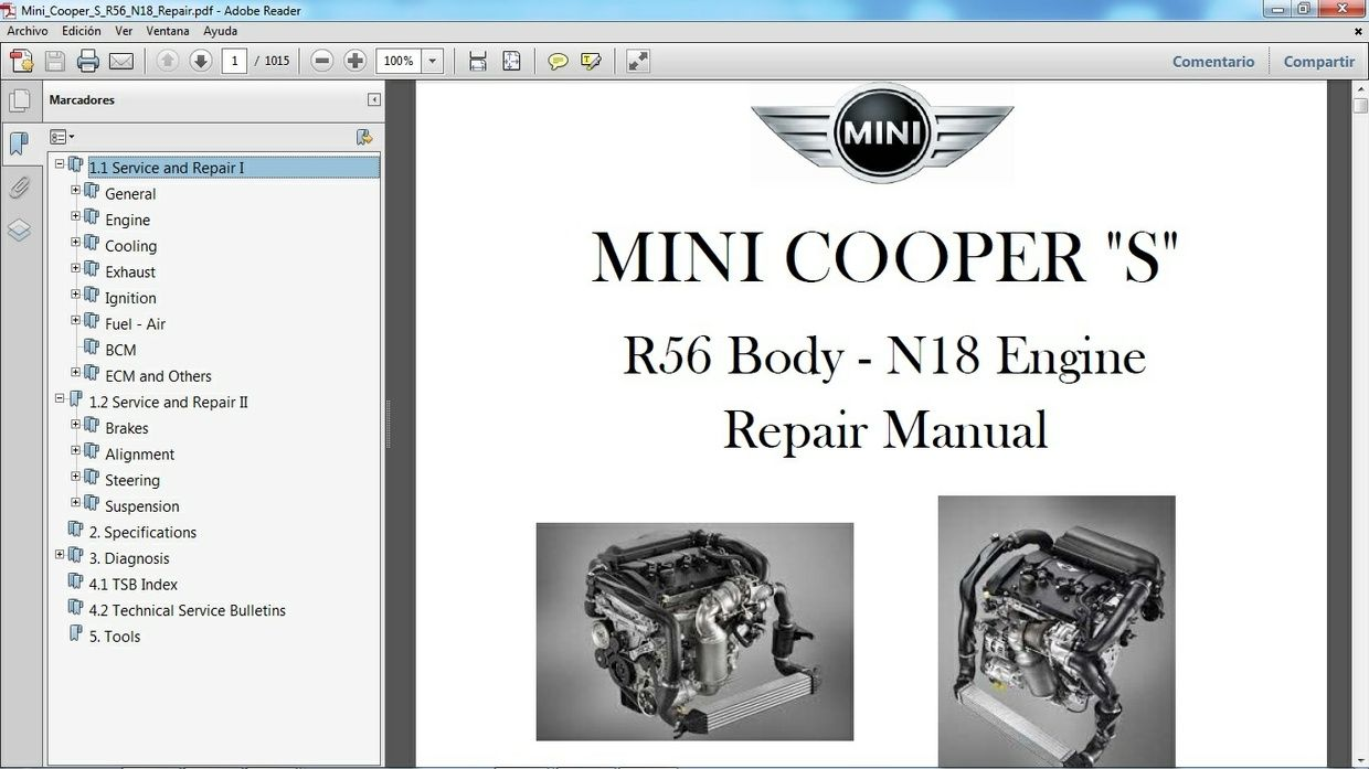 mini cooper s r56 2011 2014 manual de taller workshop manual rh pinterest co uk Mini Cooper R56 Engine Mini Cooper R54