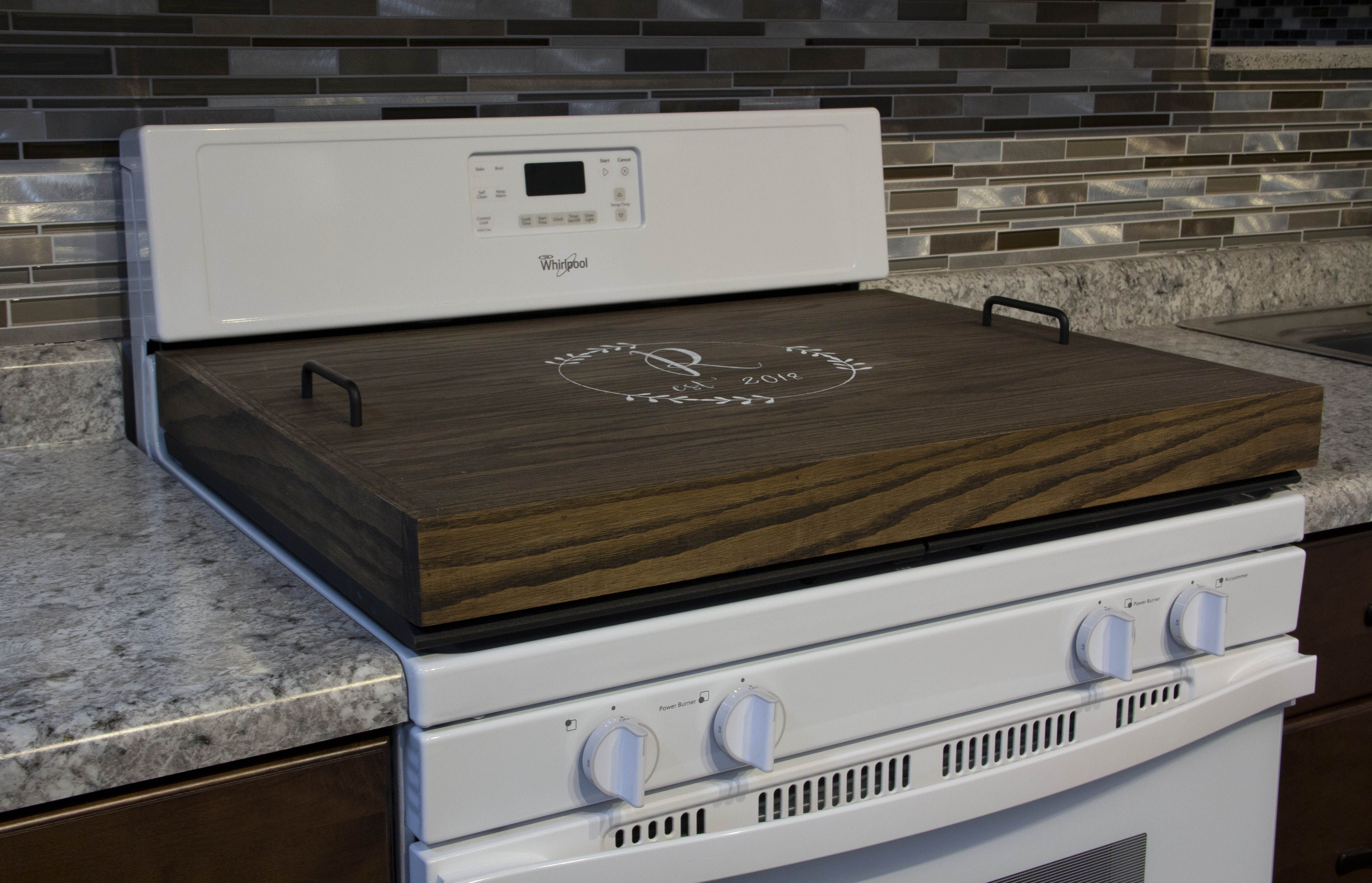 Thick Pine Stove Top Cover Stove Top Cover Stove Cover Wooden
