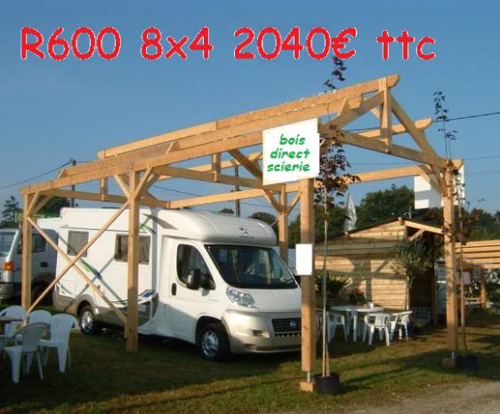 BOIS DIRECT SCIERIE abri camping car carport Abris