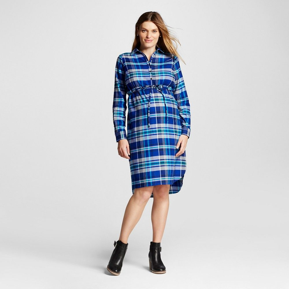 Maternity plaid popover shirt dress blue plaid s liz lange for maternity plaid popover shirt dress blue plaid s liz lange for target womens ombrellifo Images