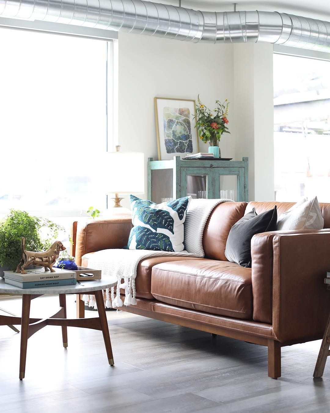 Industrial living room home decor inspiration. Art print available ...