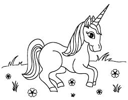 Раскраска: лошадь и единорог