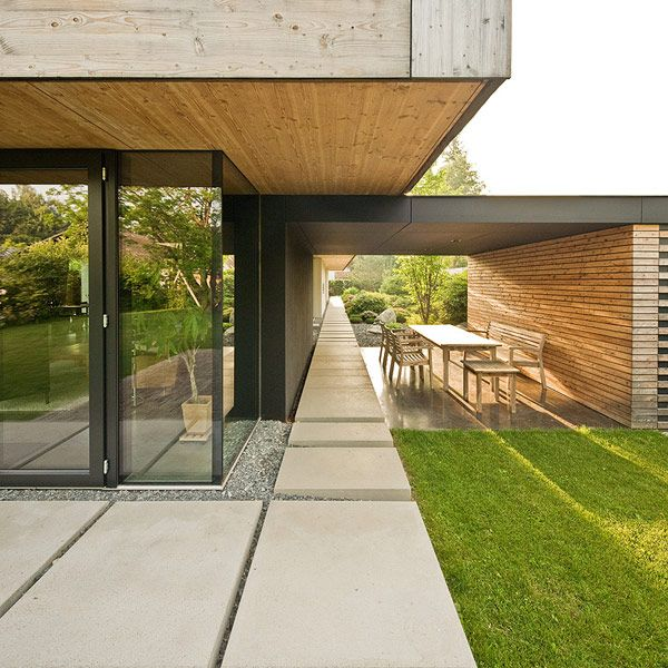 modern house au29 by gassner zarecky pinterest d co fa ade ext rieure couvert et arcs de tir. Black Bedroom Furniture Sets. Home Design Ideas