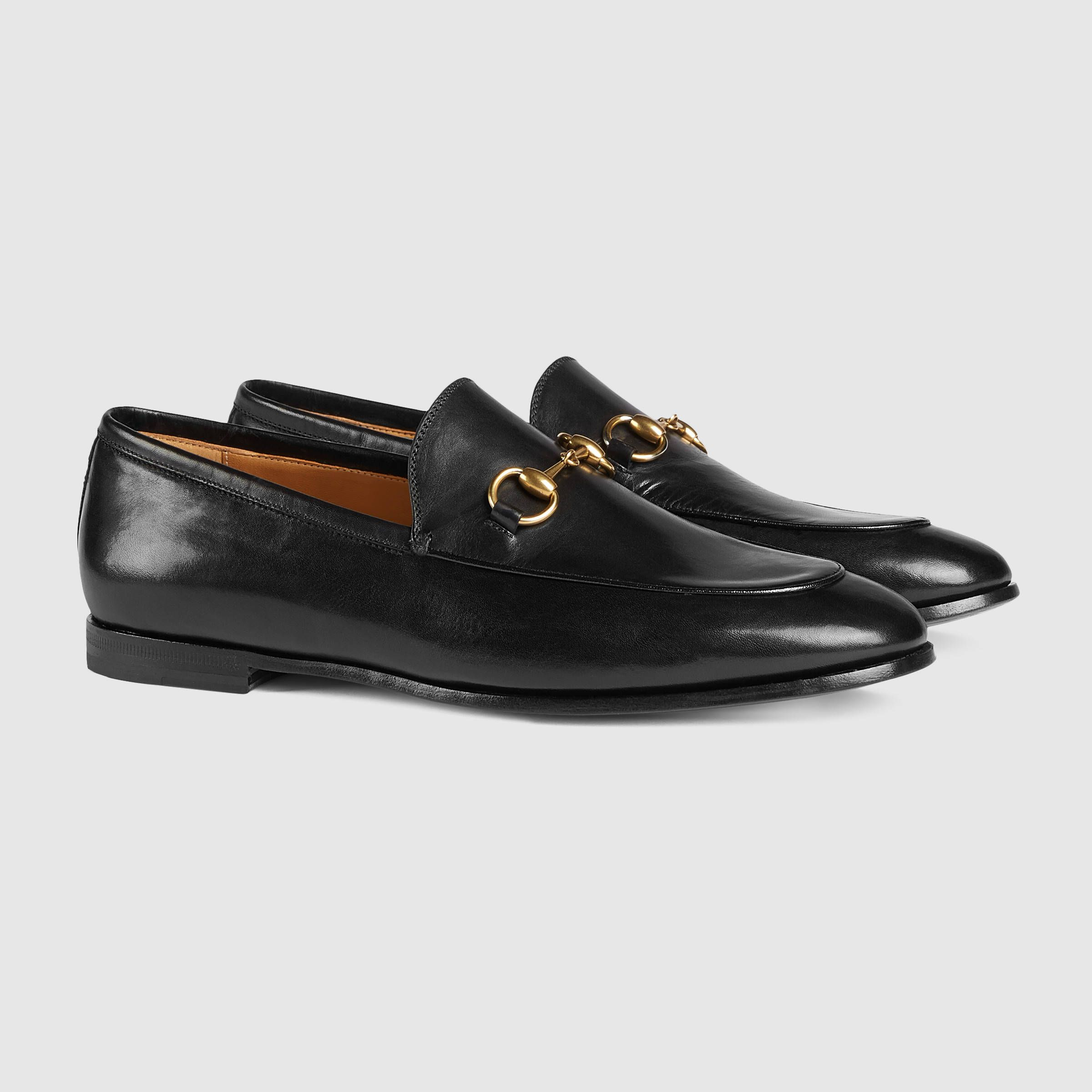 9acad43c6 Gucci Jordaan leather loafer | ***GUCCI FASHION*** | Gucci loafers ...