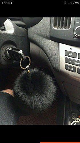 b94c44f343b4 Amazon.com  HEARTFEEL Real Fox Fur Pom Pom Ball Keyring   Bag Purse Charm