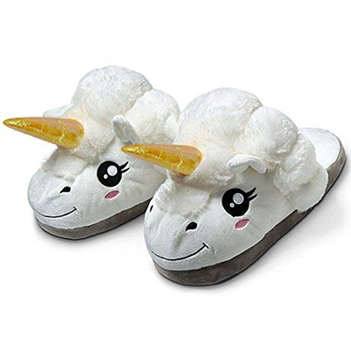 Ylyycc Plush Unicorn Slippers Household Slippers for Grow...