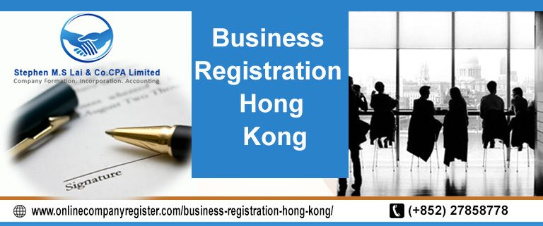 For New Business Registration In Hong Get In Touch With Online