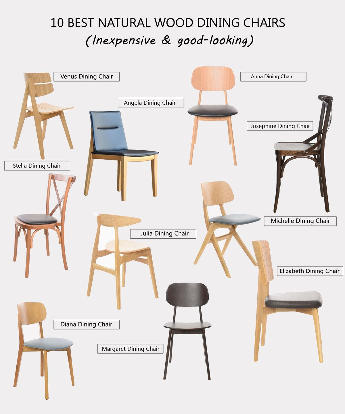Pin on Solid Wood Dining Room Chairs by Tevahome
