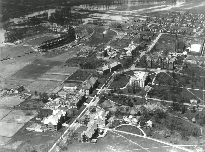Central Campus, The Ohio State University Aerial view