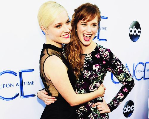Elizabeth Lail & Georgina Haig @ Once Upon A Time Premiere (Sept 21, 2014)