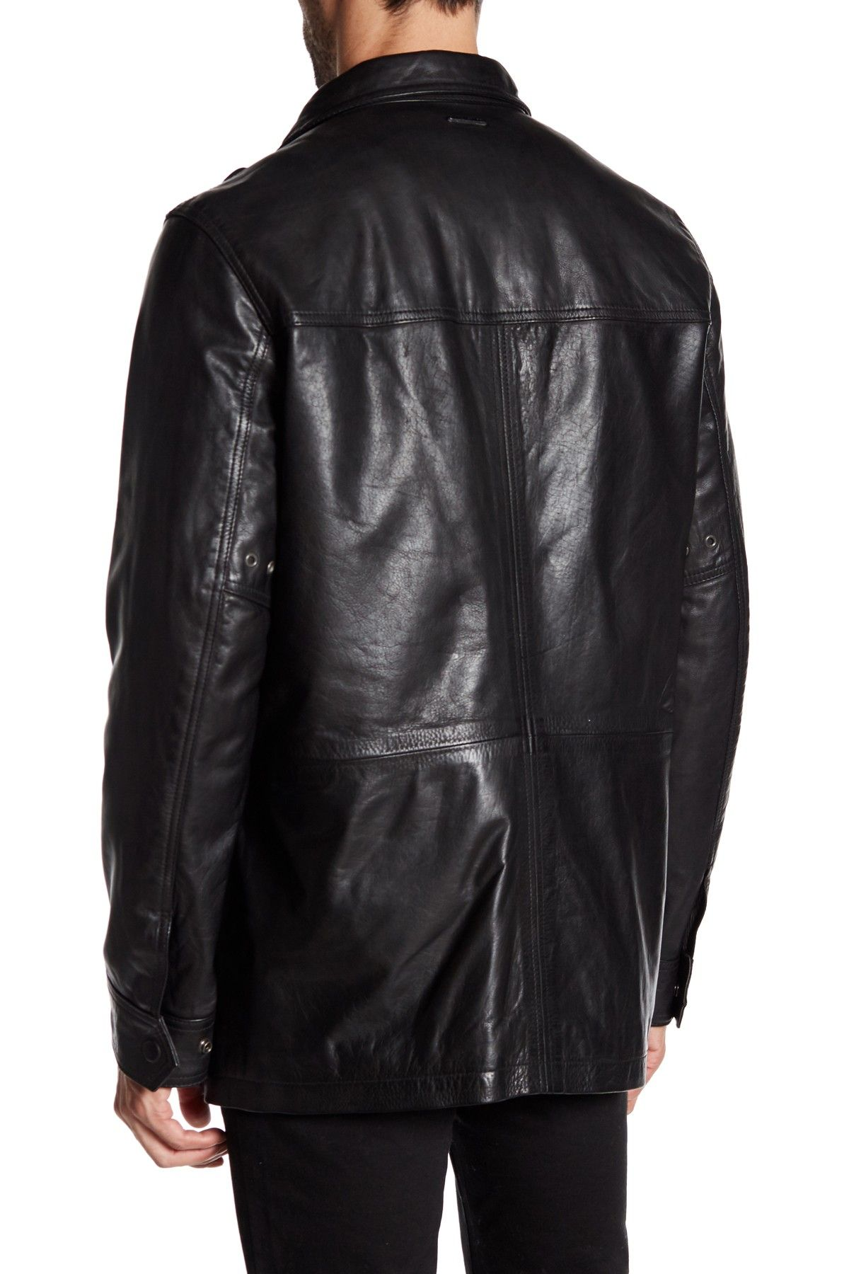 Brimfield Leather Jacket by Andrew Marc on nordstrom_rack