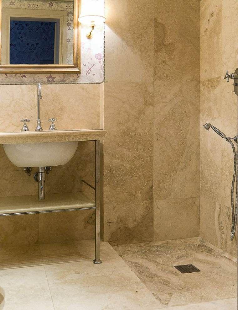 Salle de bain travertin : la beauté de la pierre de Tivoli   Bad ...