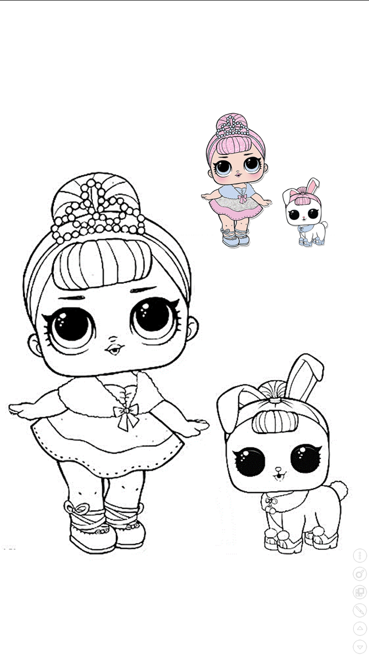Lol Bailarina Para Colorear Lol Dolls Coloring Pages For Kids Coloring Pages