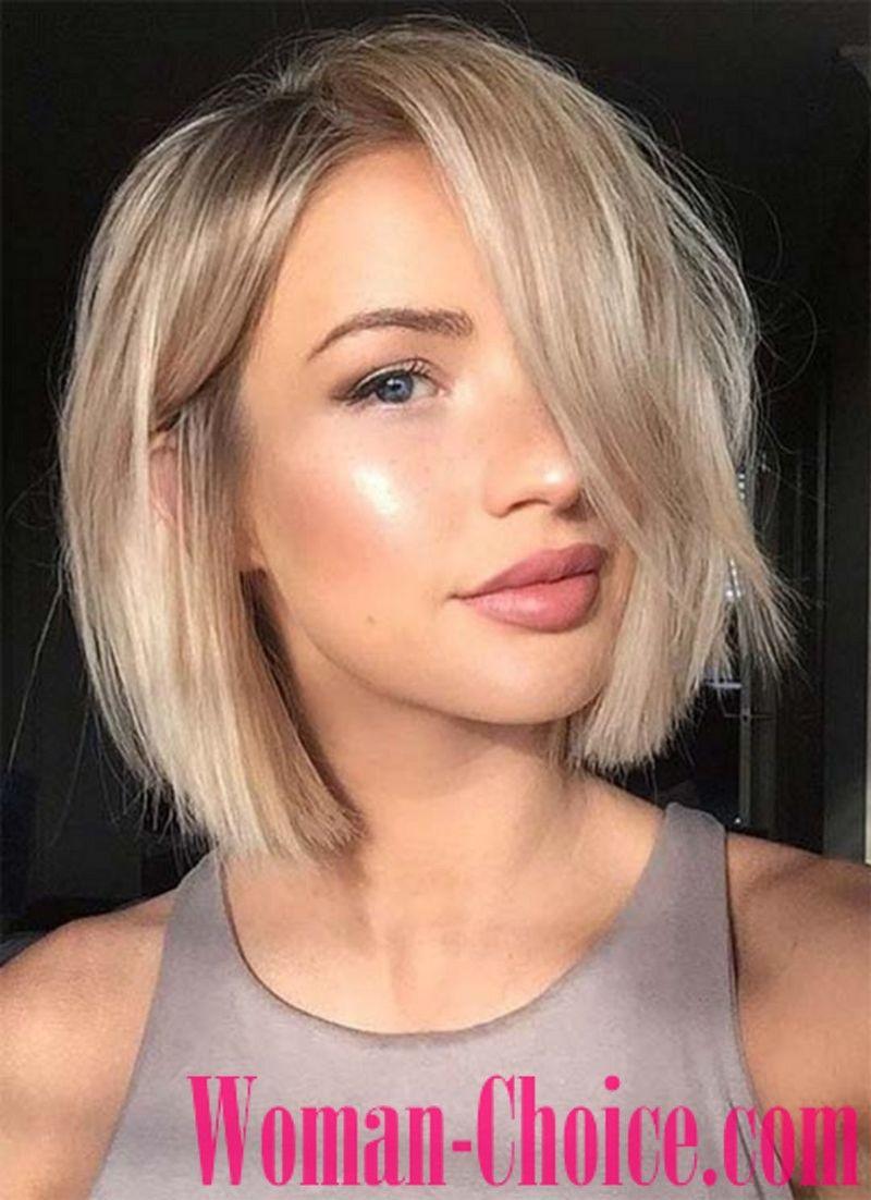 Trendy haircuts for hair of medium length photos