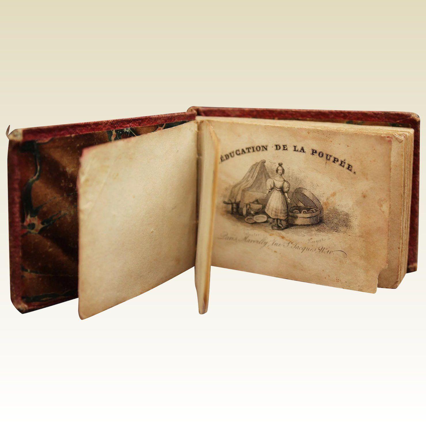 """French Antique Miniature Doll Book """"L'éducation De La"""