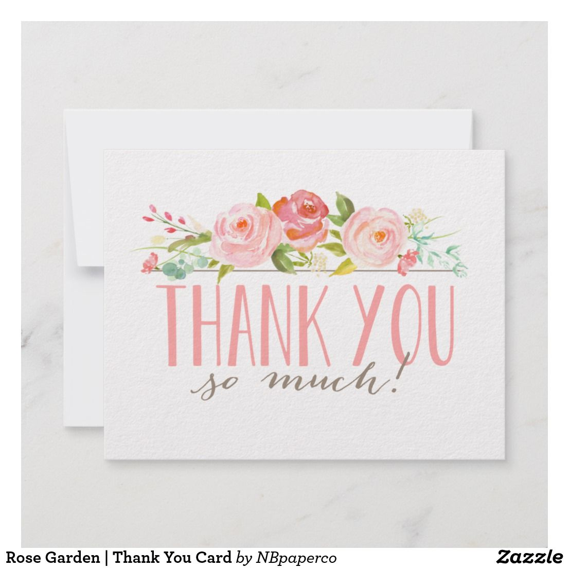 Rose Garden Thank You Card Zazzle Com With Images Custom