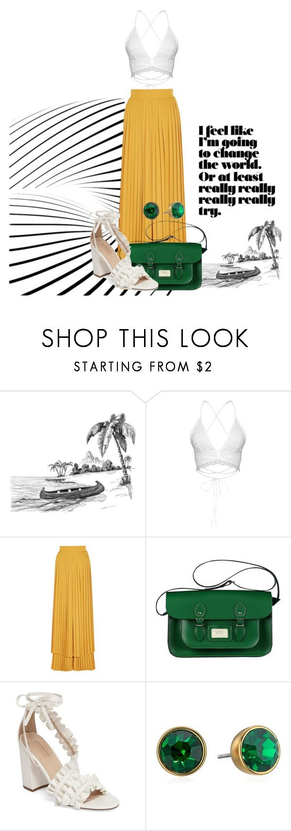 """Untitled #1833"" by social-outcast-16 ❤ liked on Polyvore featuring Sara Battaglia, Topshop and Kate Spade"