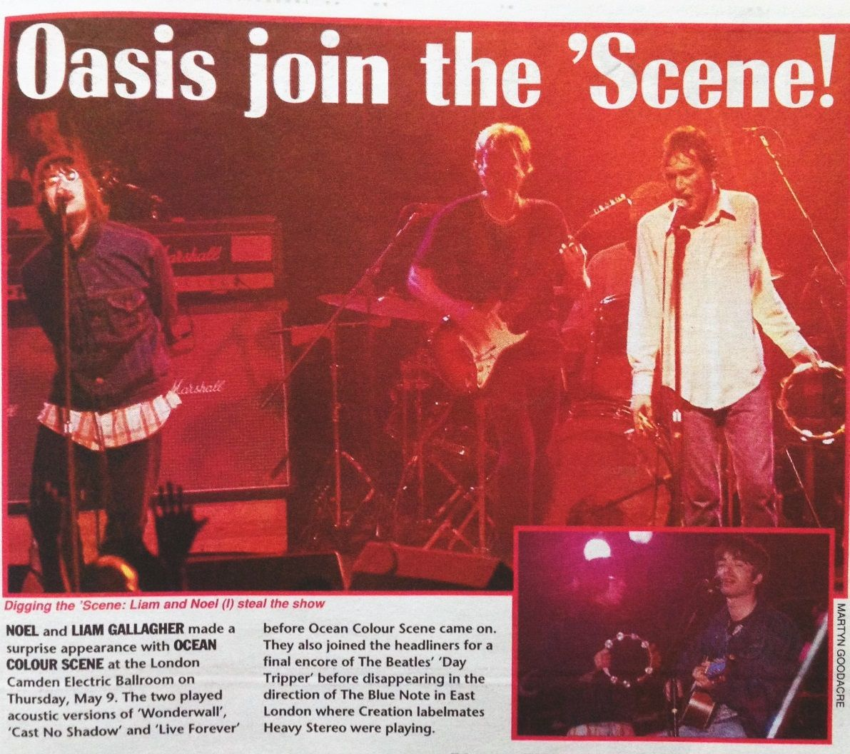 Ocean Colour Scene And Oasis Electric Ballroom Nme May 1996