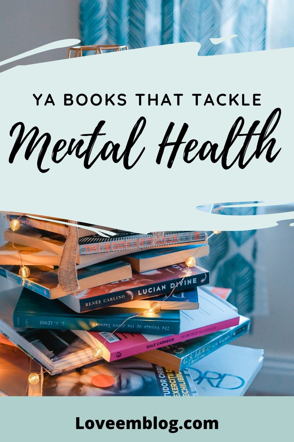 If you're looking for your next book to read, here are 6 young adult books that changed the way I think. They all cover mental health in different ways too.  #mentalhealth #readinglist #YAbooks #youngadukt #bookideas #booklist