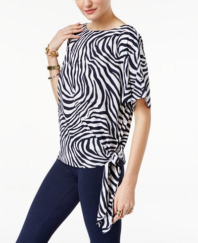 49.99$  Buy here - http://viamh.justgood.pw/vig/item.php?t=hdwfrs48401 - Zebra-Print Tie-Hem Top, A Macy's Exclusive