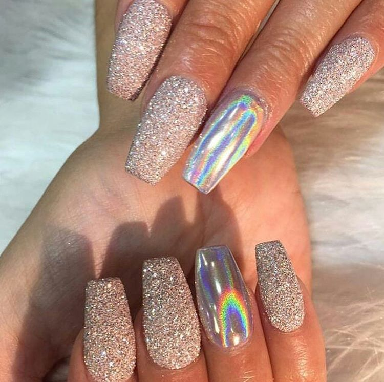 Like What You See Follow Me For More Uhairofficial Holographic Nails Sparkly Acrylic Nails Nail Designs