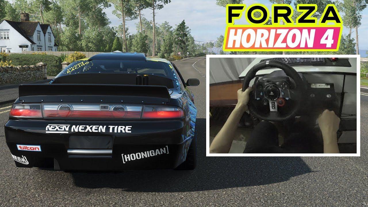 Forza horizon 4 logitech g29 gameplay nissan 240 sx 1995