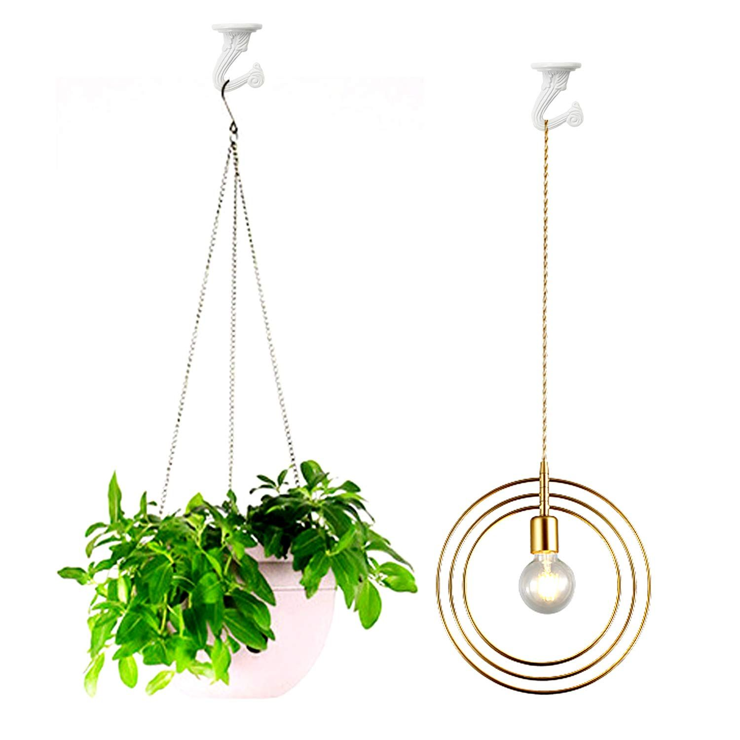 10 Sets Ceiling Hooks Heavy Duty Swag Hook With Hardware For Hanging Plants Ceiling Installation Cavity Wal Hanging Plants Ceiling Installation Ceiling Hooks