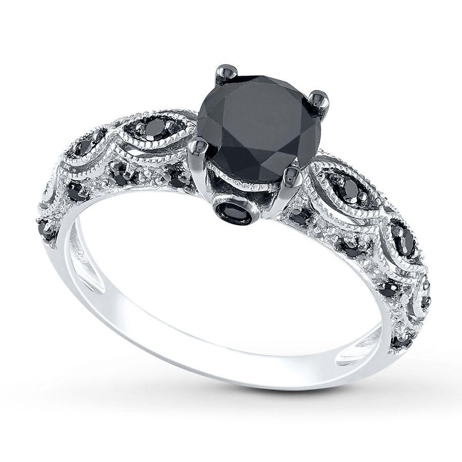 Jared Black Diamond Ring Wedding Dress Pinterest Black
