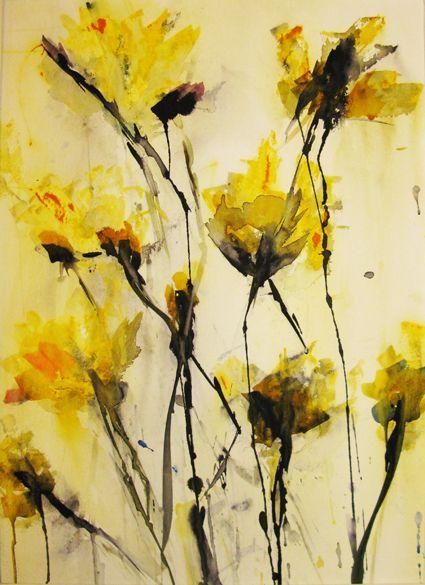 Angrywhistler ingela ullberg hallonquist painting pinterest jikankokoro floral watercoloryellow flowersabstract artabstract mightylinksfo Gallery