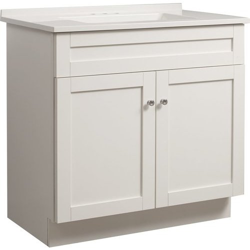 Foremost 30 Inch Dennison Single Sink Vanity Combo - White ...