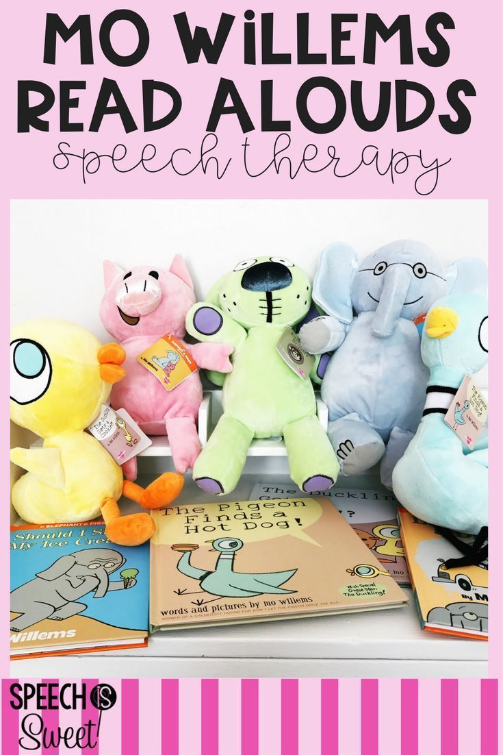 Mo willems read alouds for speechlanguage therapy this