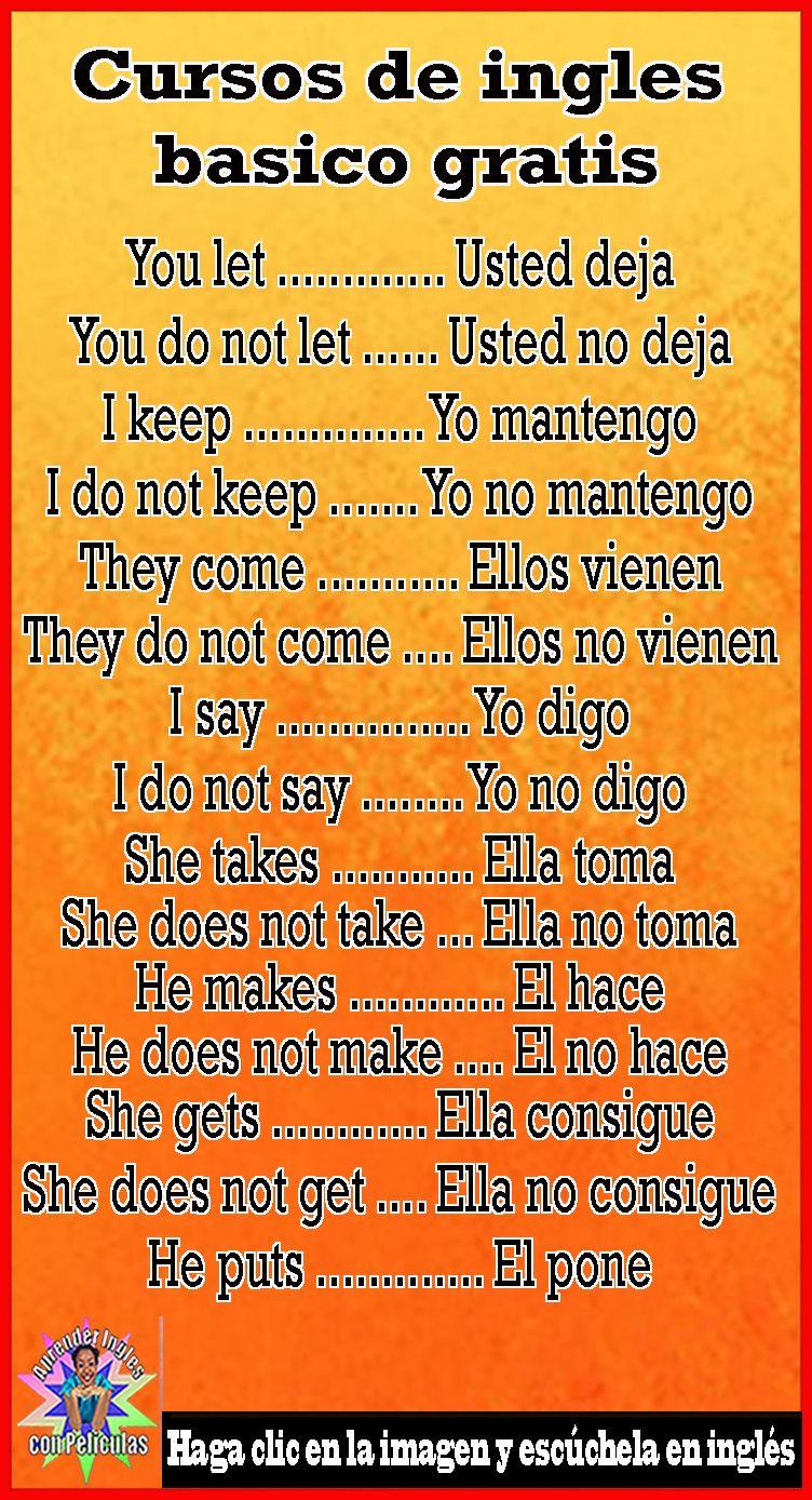 32 Ideas De Ingles Practico Vocabulario En Ingles Vocabulario Ingles Español Como Aprender Ingles Basico