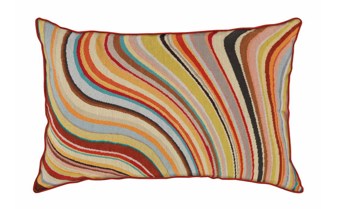Swirl Cushion Paul Smith Wool Needlepoint