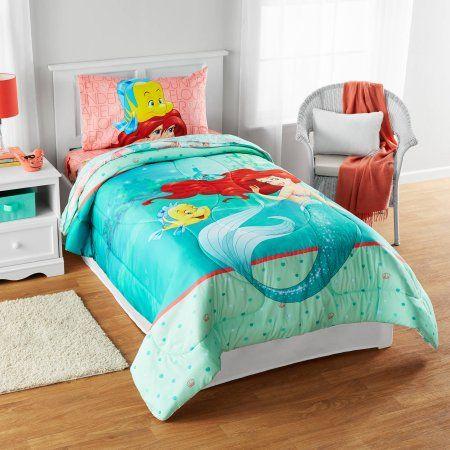 """Disney Little Mermaid """"Besties Chill Together"""" Reversible Twin/Full Bedding Comforter, Walmart Exclusive"""