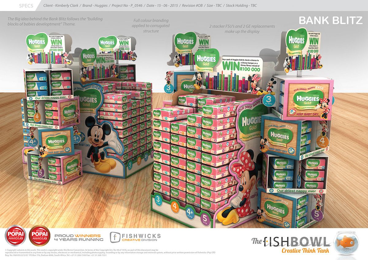 Huggies Full Campaign On Behance Pop Display Pinterest  # Muebles Huggies