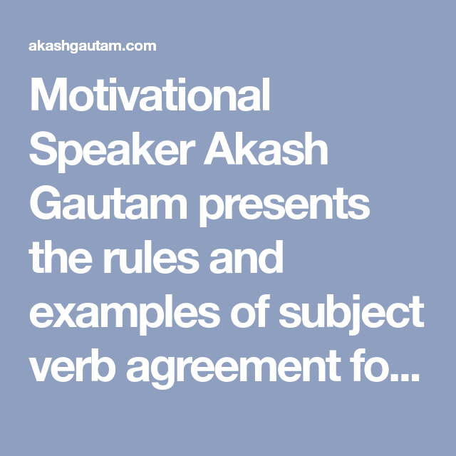 Motivational Speaker Akash Gautam Presents The Rules And Examples Of