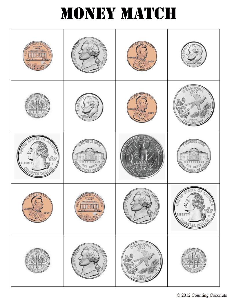 US Money Match.pdf Google Drive Money, February lesson