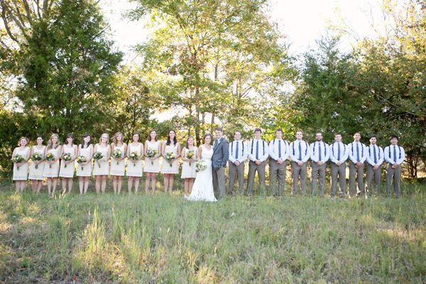 Boys In Suspenders Rustic Wedding