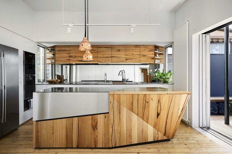 viktorianisches haus renovierung erweiterung küche kochinsel holz ...