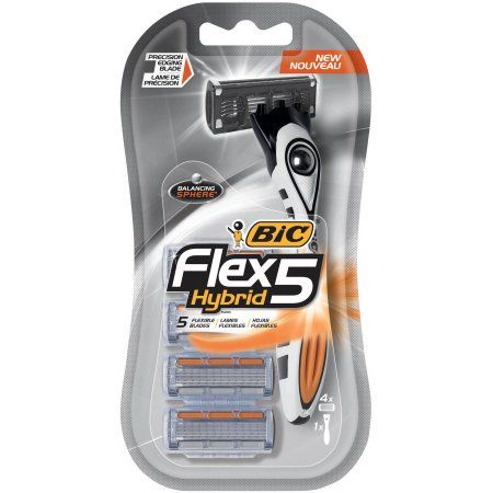 image about Bic Razor Coupons Printable referred to as BIC Flex 5 Hybrid Mens 5 Blade, Disposable Razor, 4-Coun