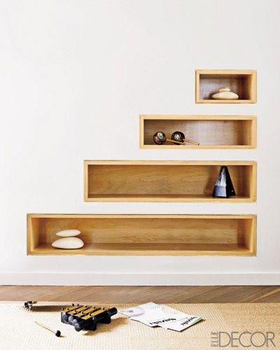 Recessed Shelves, Shelves, Shower Corner